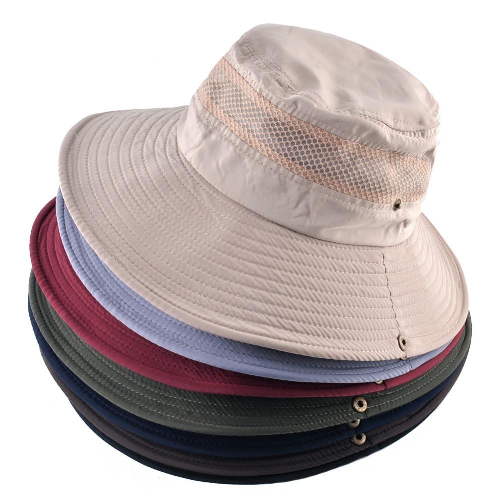 ... Verão Balde Chapéus Tampa de Proteção UV Homens Sombrero Gorro Chapéu  de sol para os homens TMP20Marca  TQMSMYCabeça se encaixam Em Torno de   56-59 ... 503315000b2