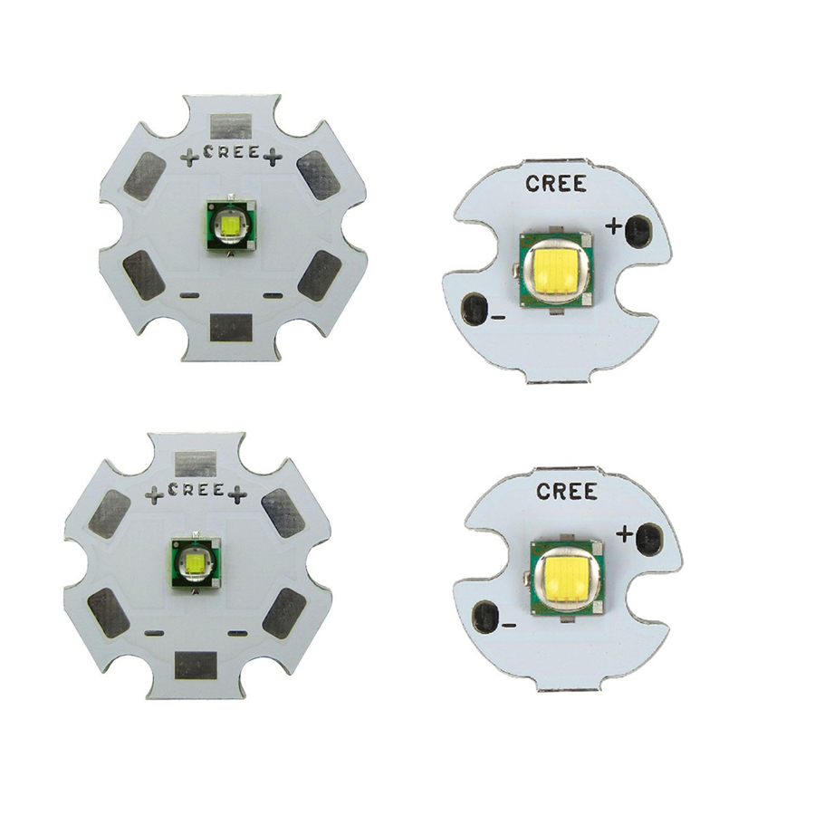 5pcs /lot 10W High Power CREE XML XM-L T6 LED U2 Cold White LED Emitter Diode Chip with 16mm / 20mm PCB base for DIY flashlight