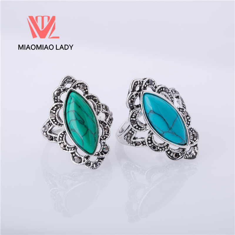 free shipping wholesale 5pcs cheap sale stone indian female wedding ring silver plated party ring women - Indian Wedding Rings