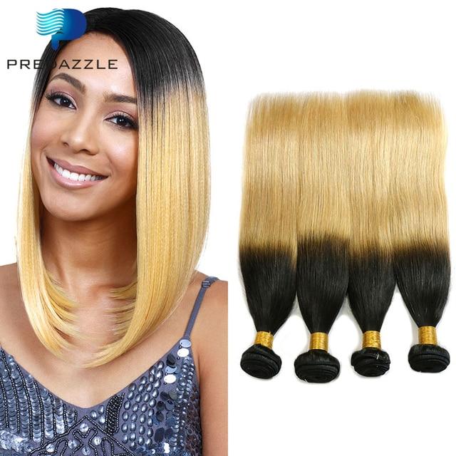 8a Straight Brazilian Human Ombre Hair Tb27 Two Tone Brazilian