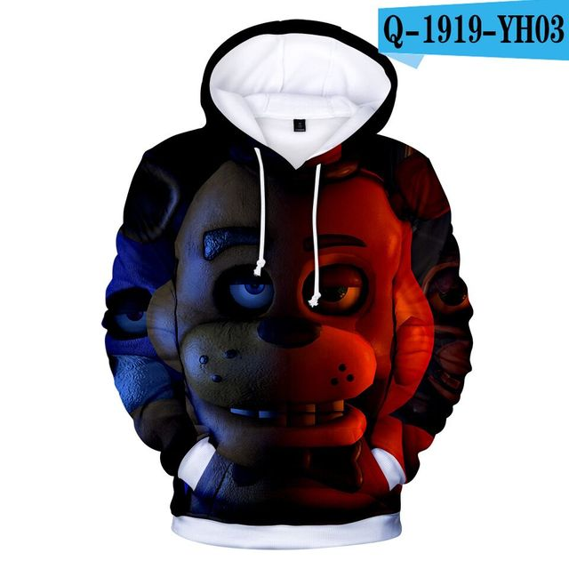 3D Print Girls Boys Five Nights at Freddy's Winter Autumn Outerwear Jackets Coats Kids Hooded Sweatshirts Childres Pullover Tops