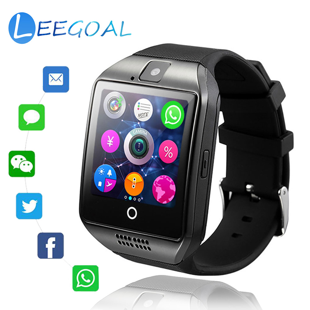Bluetooth Smart Watch Q18 Touch Screen Smart Watches with Camera SIM/TF Card Slot Sports Fitness Tracker Smartwatch