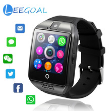 Bluetooth Smart часы Q18 Сенсорный экран Смарт-часы с Камера SIM/TF слот для карты спорта Фитнес трекер Smartwatch