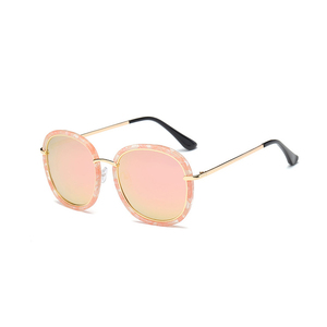 Image 5 - 2020 High Quality Square Polarized Sunglasses Women Brand Designer UV400 Sun Glasses Gold Frame sunglass Mirror Pink With Box