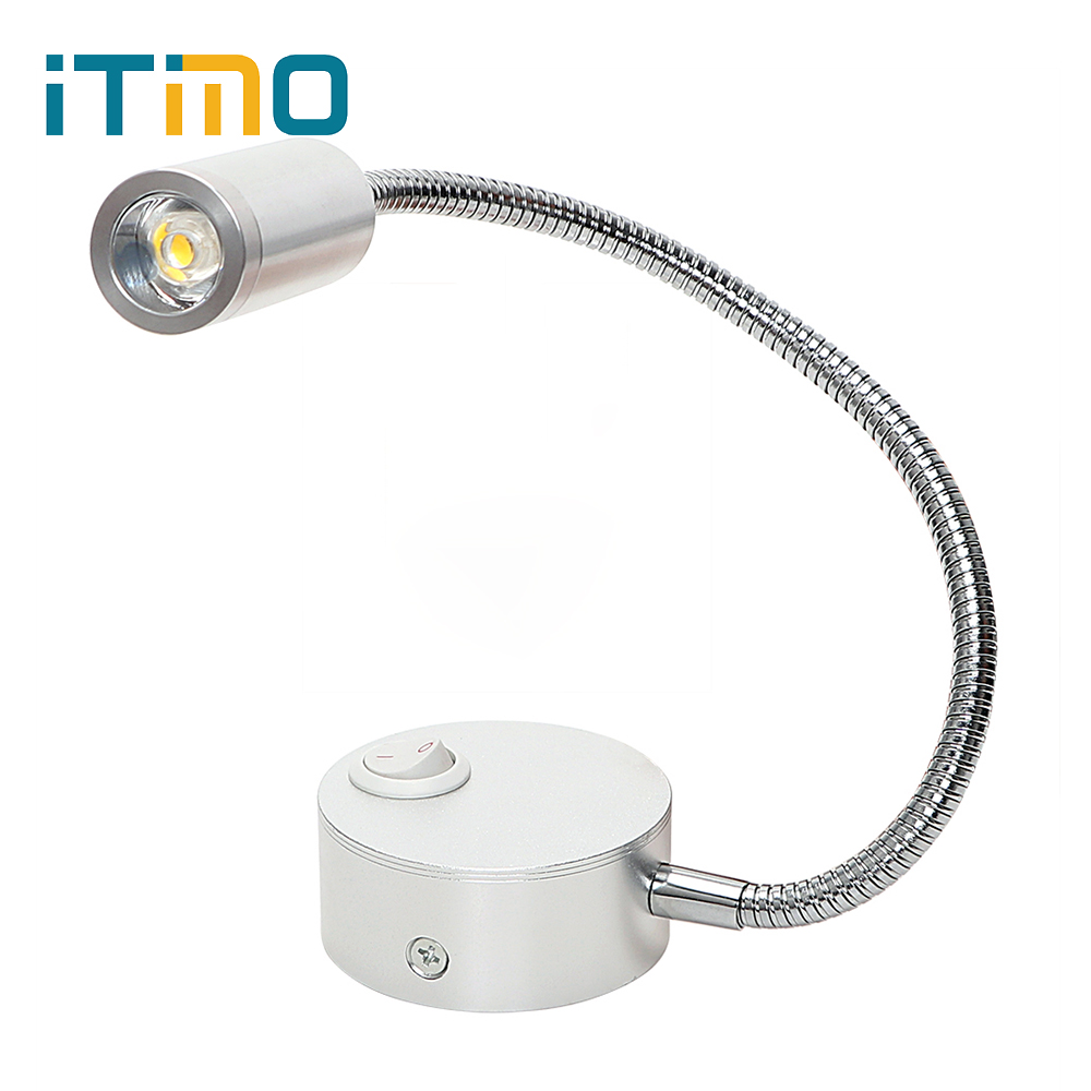 ITimo Wall Lamps Direction Adjustable Bedside Reading Lamp Modern Home Decoration Flexible Arm Light Hose Mirror Corridor Light