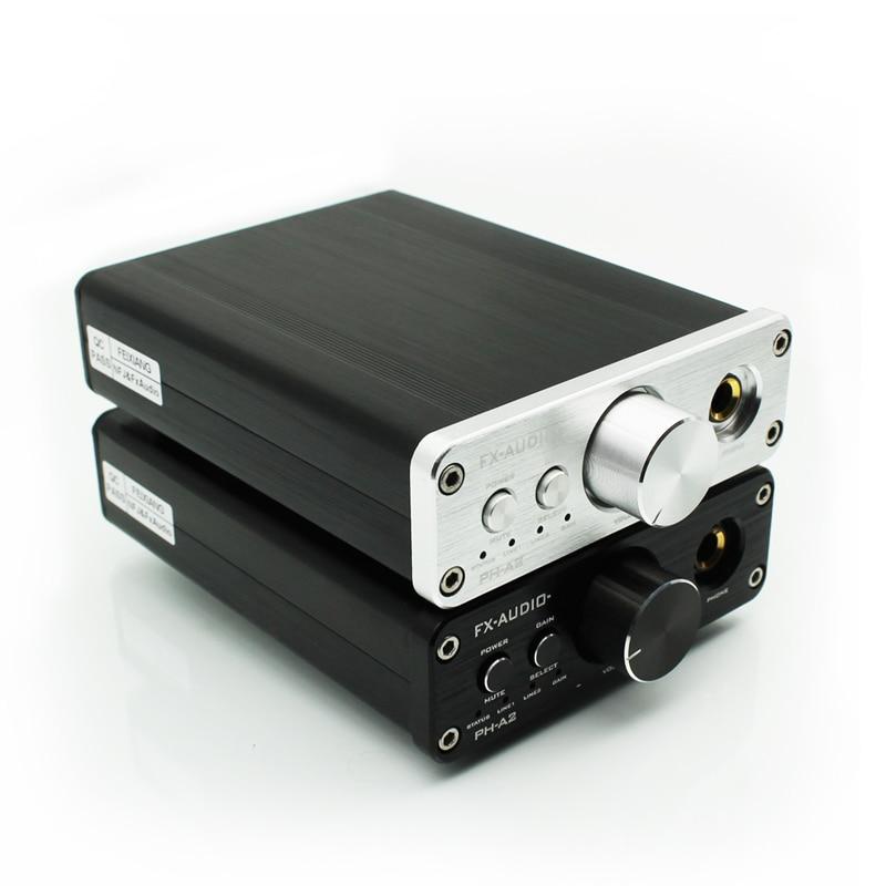 2018 FX-AUDIO New PH-A2 HiFi 2.0 Portable Headphone Audio Amplifier TPA6120A2 + OPA2604 16-600ohm Headphone Amplifier