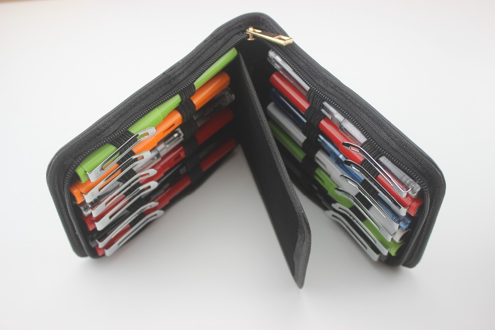 New Arrival Top Quality Black Color Fountain Pen Roller Pencil Case Holder Fit For Student Office Stationery