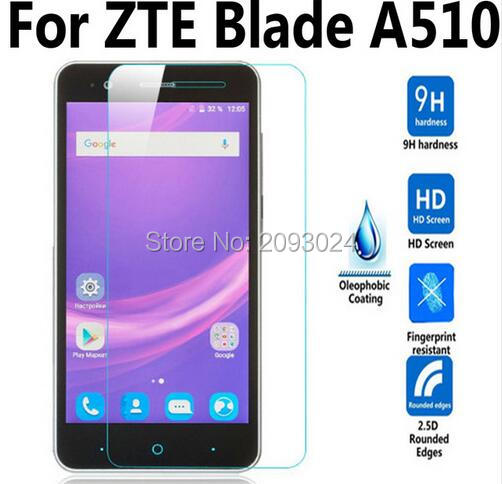 2pcs For ZTE Blade A510 / A510T / BA510 Tempered Glass Film For ZTE Blade A 510 Screen Protector Cover Protective Film Case