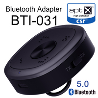 2 in 1 Wireless Audio Adapter with aptX HD aptX Low Latency BTI 031 5.0 Bluetooth Transmitter and Receiver for Android/iOS