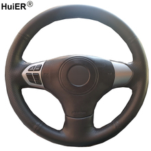Hand Sewing Car Steering Wheel Cover Volant Braid Funda Volante For Suzuki Grand Vitara 2007 2008 2009 2010 2011 2012 2013