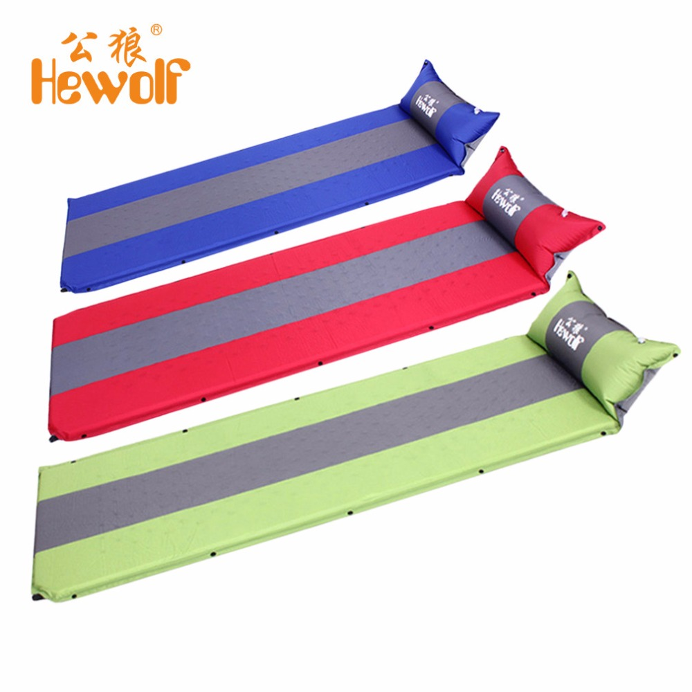 Inflatable Cushion Packer Outdoor Activities Camping Mat 1 Person Splicing Automatic Self-Inflating Tent Thickening Mat from Ru outdoor camping green blue splicing automatic inflatable mattress one person self inflating moistureproof tent mat with pillow