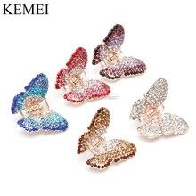 Elegant  Women Girl Butterfly Claw Crystal Rhinestone Hair Clip Clamp Hairpin Jaw -B118