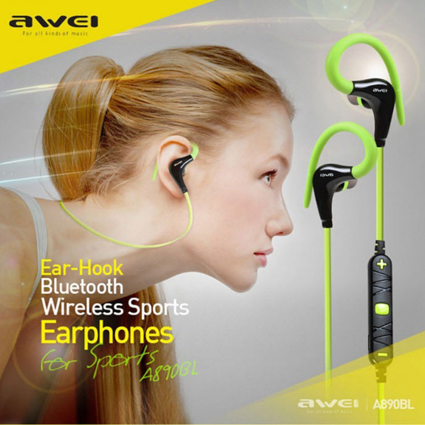 Awei Blutooth Sport Headset In-Ear Cordless Wireless Headphone Auriculares Bluetooth Earphone For Your In Ear Phone Buds Earbud 3