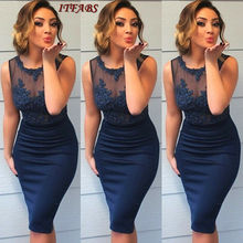 2019 Women New Style Package Hip Bodycon Dress Wrap  Formal Dresses