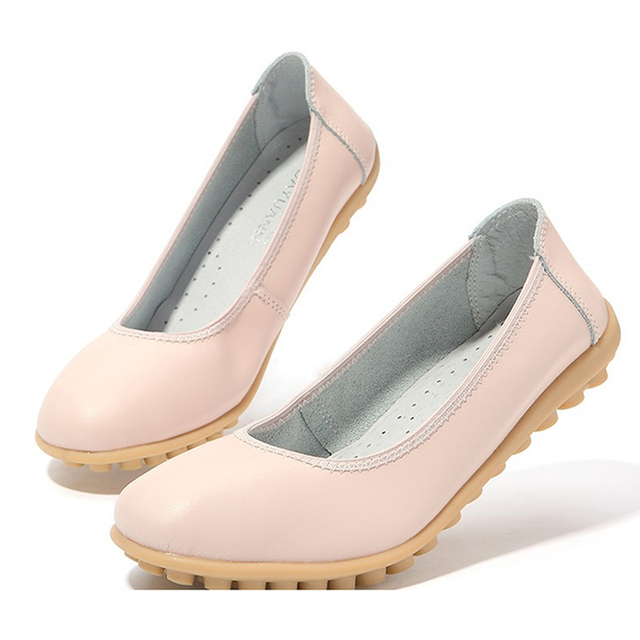 2016 Comfortable Women PU Leather Flat Shoes Woman Casual Work Shoes Women Flats Loafers Ladies Shoes Chaussure Femme