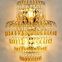 Sconce Luxury Crystal Wall Lamp Modern Style Creative Living Room Wall Sconce Gold Bedroom Bedside Lights Classical Wall Lamp