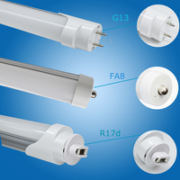 FedEX Free Shipping 36W 2400MM 8FT Single Pin T8 LED Tube Light High Brightness SMD2835 25LM