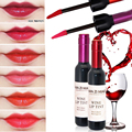 Korea Brand Makeup Waterproof Long Lasting Lip Gloss Matte Red Velvet Liquid Lipstick Melted Wine Lip Tint  Tattoo Lipstick