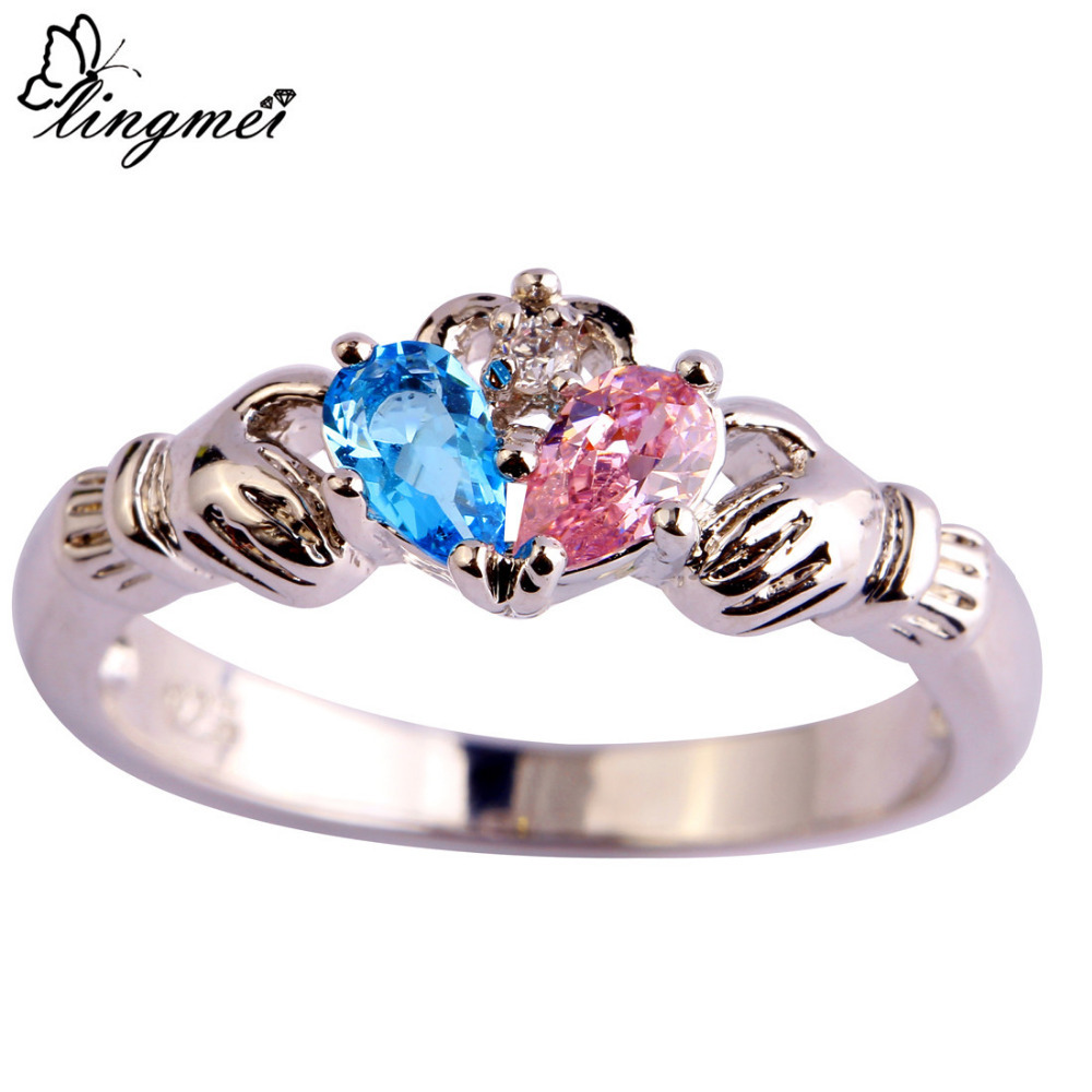 Claddagh Ring Blue And Pink