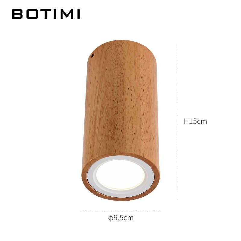 Botimi современные светодиодный Потолочные светильники для коридора маленькие круглые деревянные потолочные светильники современный квадратный светильник кубом дерево светильники