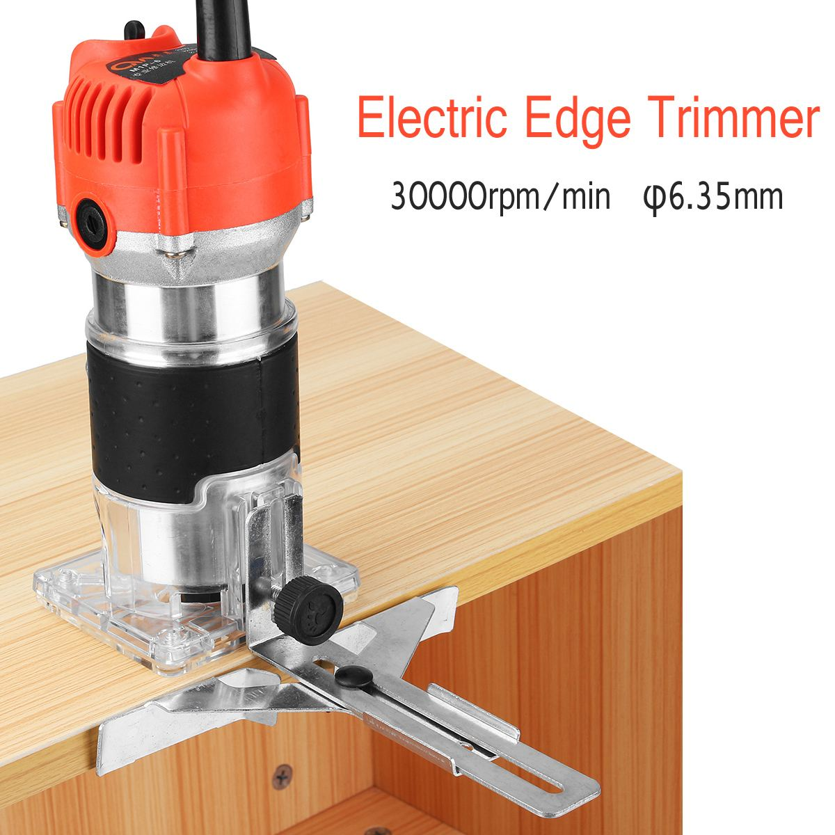 Multi Function Wood Edge Cutter 220v 680W 30000RPM 6.35MMWoodworking Electric Edge Trimmer Woodworking Machine Anti Slip