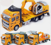 1 48 Pull Back Alloy Car Engineering Truck Model Excavators Cement Concrete Mixer Dumpers Diecasts Toy