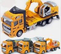 1:48 Wycofać Samochód Stop Koparki Cement Betoniarka Wywrotki Ciężarowy Model Diecasts Pojazdy z Zabawkami dla Chłopców