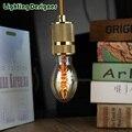 C55 Edison lâmpada Incandescente lâmpada design retro filamento Edison lâmpada luz pingente gota de luz em espiral
