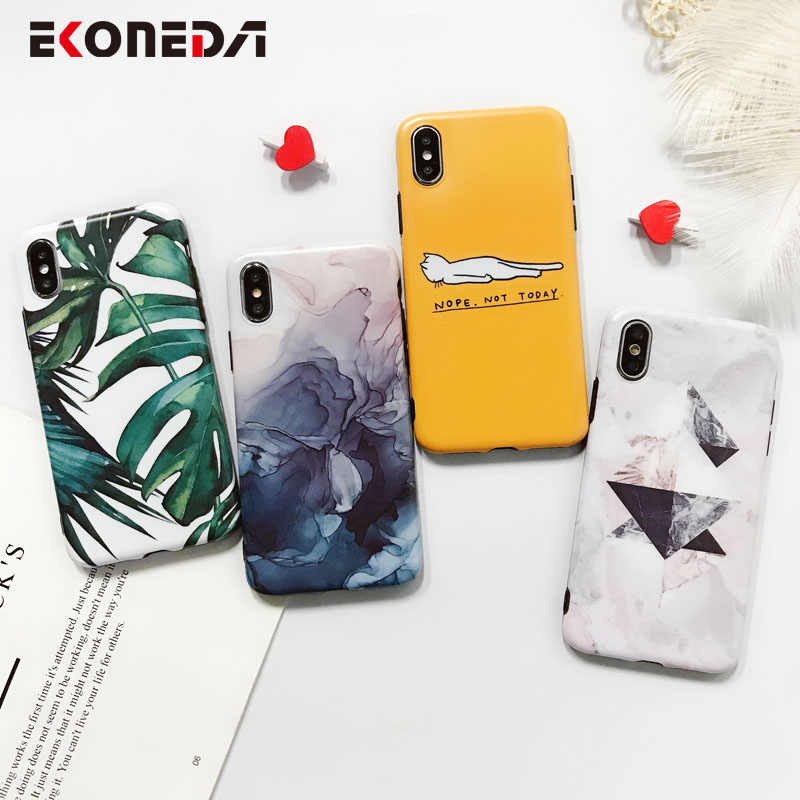 7 EKONEDA Caso TPU Para o iphone Mais Capa de Silicone Deixa Pena Para Coque iPhone 7 8 Da Tampa Do Caso Para o iphone 8 Plus 6S X XS Max XR