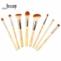 Jessup 8pcs Beauty Bamboo Professional Makeup Brushes Set Pincel Maquiagem Foundation Stippling Highlight Cheek