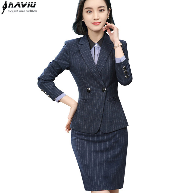 2018 New spring fashion business skirt suits interview long sleeve