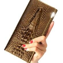 De luxe Louis portefeuille 2017 nouvelle mode crocodile motif en cuir portefeuille poche à monnaie longue section de femmes en gros livraison gratuite(China (Mainland))