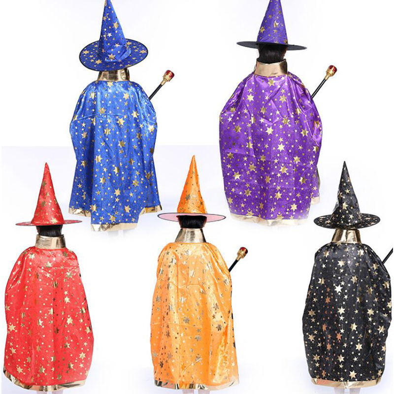 wizard capes with hat for kids birthday party Halloween Costumes - birthday party supplies - party favor
