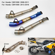 60mm Motorcycle Non-destructive Modified Middle Link Pipe Silp on for Honda CBR1000 2008 2009 2010 2011 2013 2014 2015 2016