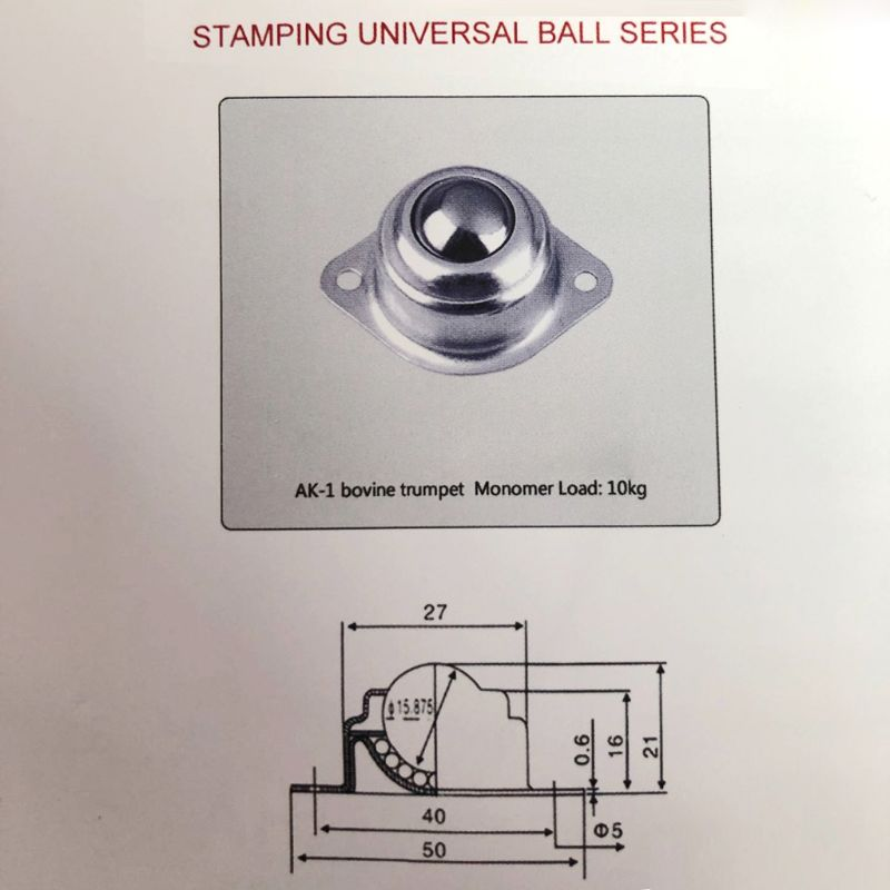 Roller Ball Transfer Bearing Universal Caster Screw Mount Round Ball Bull Wheel