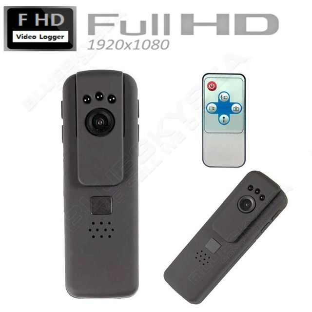 Free shipping!Pocket IR Night Vision HD 1080P Conference Police Worn Camera DV Remote Control