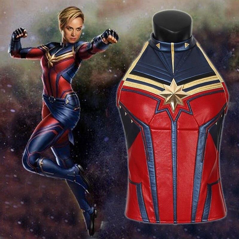 Avengers 4 Endgame Captain Marvel Cosplay Ms  Marvel Carol Danvers Costume  Film Jumpsuit Heroine Halloween Only Mask Vest Boots