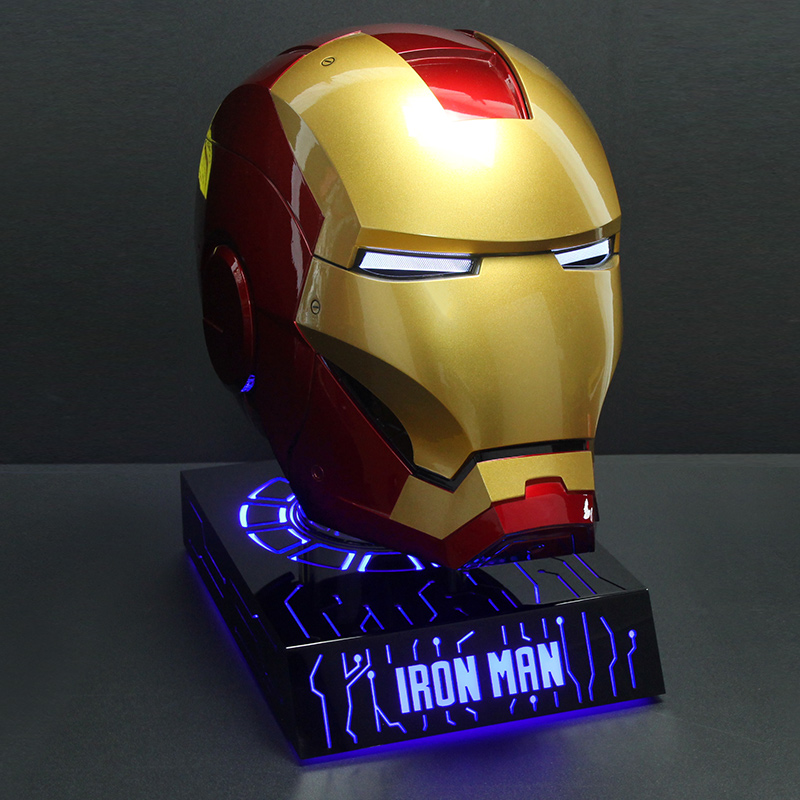 Action & Toy Figures Modest Avengers Anime Figure 1/1 Iron Man Helmet Cosplay Wearable Mk7 Action Figure Touch Induction Electric Helmet Collection Toy Attractive Fashion