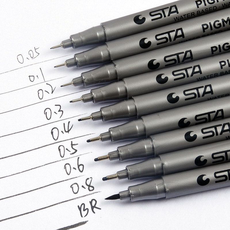 9 Pack Sakura Pigma Micron Pens Fineliner Set Sketch brush Ink Marker Pen copic markers Pigment Liner for drawing art supplies9 Pack Sakura Pigma Micron Pens Fineliner Set Sketch brush Ink Marker Pen copic markers Pigment Liner for drawing art supplies