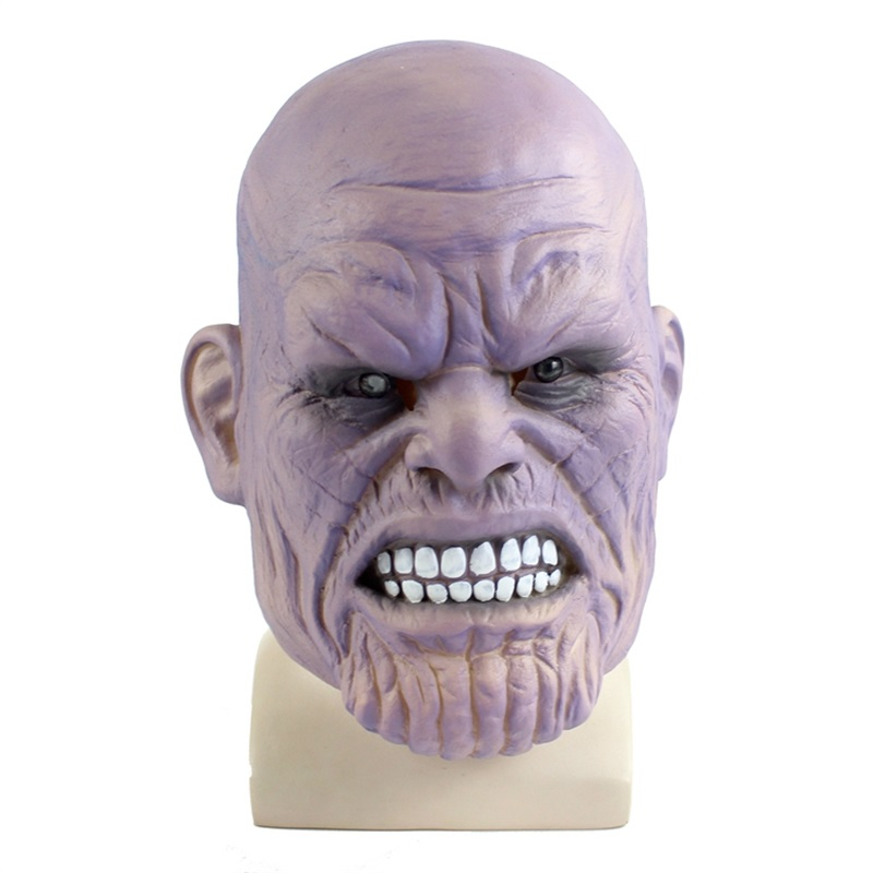 Movie The Avengers Thanos Adult Latex Mask Cosplay