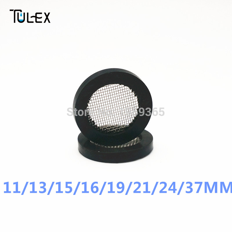 Rubber O Ring 10PCS 11 13 15 19 21 24 37MM Rubber Gasket with Net Shower