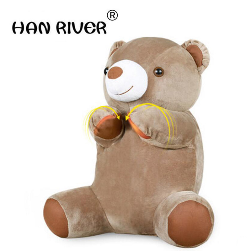 HANRIVER Little bear neck massager neck lumbar back multi-function electric household massage pillow massage cushion handheld electric head neck lumbar back live dolphins massager acupuncture point massage stick am45