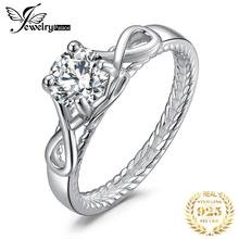 JewelryPalace Infinity Split Rope 1.6ct Cubic Zirconia Anniversary Promise Wedding Engagement Solitaire Ring 925 Sterling Silver цены