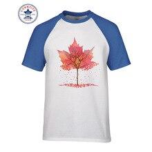 2017 Hipster Grund Tops Lustige Kanada Flagge Kanadischen Blatt Lustige Baumwolle T-shirt für männer(China)
