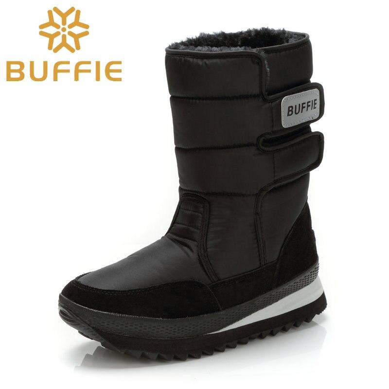2017 Мужские зимние сапоги мальчик обуви однотонные черные Для мужчин обувь Снегоступы Размеры 36 Большие размеры 47 фирменный стиль Теплая мужская обувь Бесплатная доставка