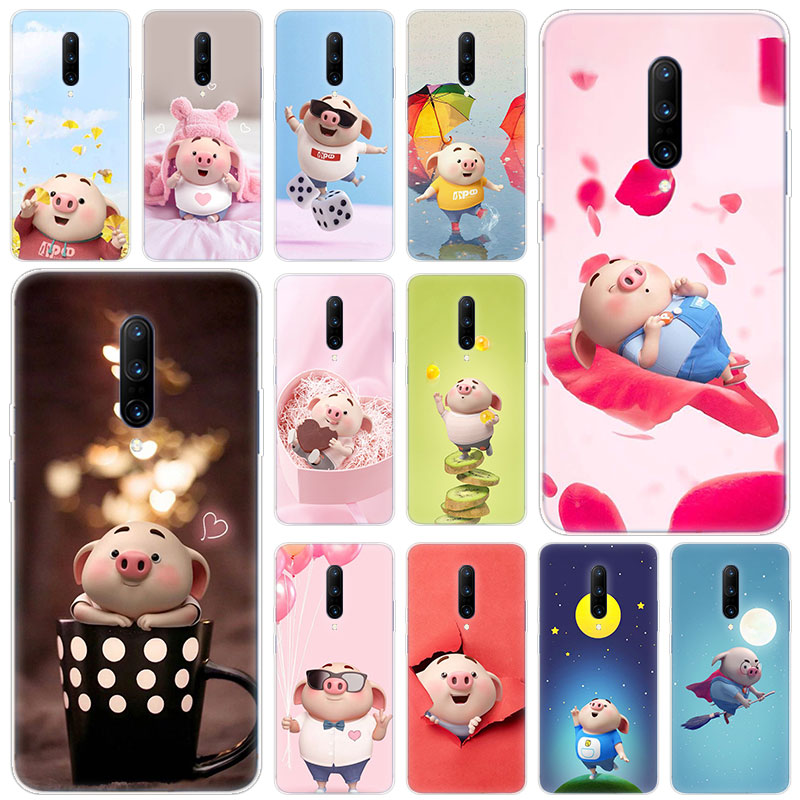 Hot Cute Cartoon Piggy Soft Silicone Fashion Transparent Case For font b OnePlus b font font