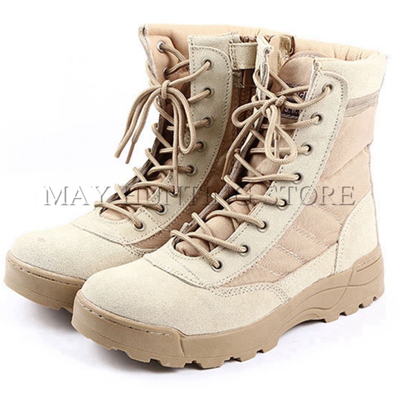 Tactical SWAT Boots Military Paintball Airsoft Combat Shoes Outdoor Men Hiking Training Boots airsoft adults cs field game skeleton warrior skull paintball mask