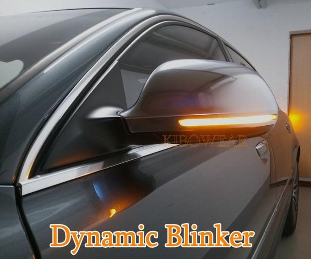 KIBOWEAR Dynamic Blinker Mirror Light for Audi A3 8P A4 A5 B8 Q3 A6 C6 4F S6 LED Turn Signal Side Indicator SQ3 A8 D3 8K