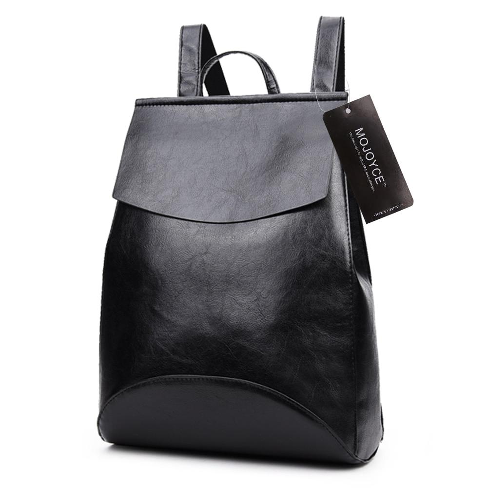 2017 New PU Leather Backpack Shoulder Bag Backpack Women School Bags for Teenage Girls Back <font><b>Pack</b></font> Women Bolsa Mochila feminina
