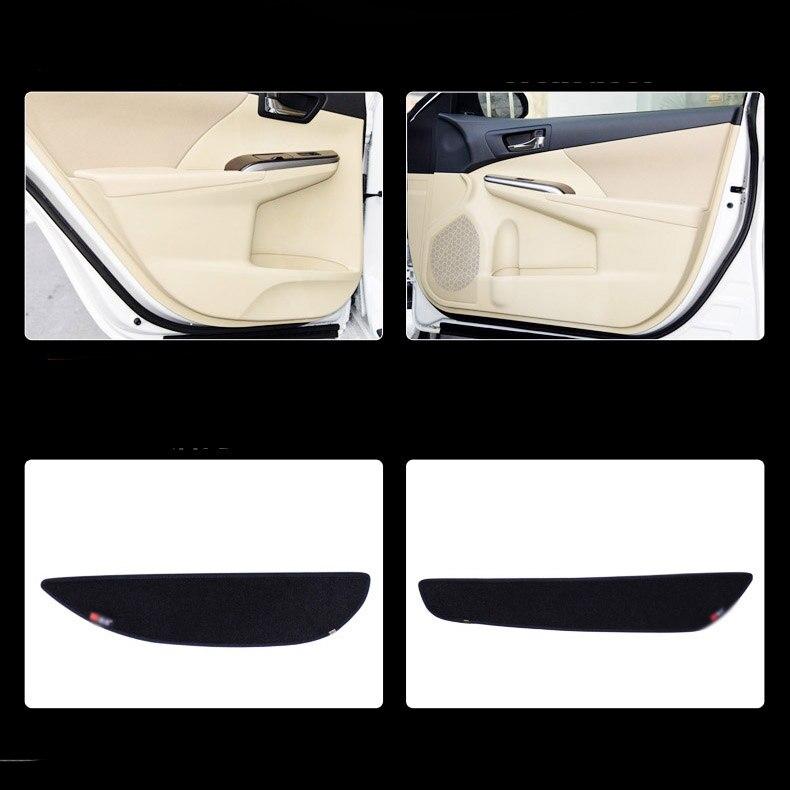 Ipoboo 4pcs Fabric Door Protection Mats Anti-kick Decorative Pads For Toyota Camry 7th 2012-2015 ipoboo 4pcs fabric door protection mats anti kick decorative pads for hyundai elantra 2012 2015